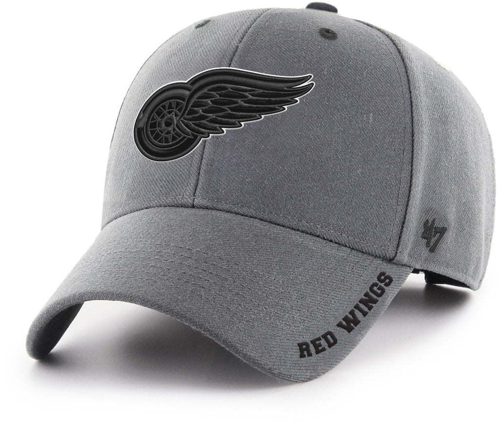 Detroit Red Wings 47 Brand MVP Charcoal Defrost NHL Team Cap
