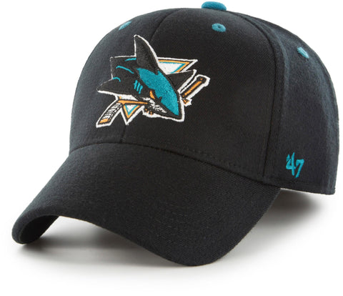 San Jose Sharks 47 Brand Kickoff Stretch Fit NHL Cap