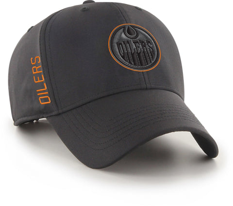 Edmonton Oilers 47 Brand NHL Team Momentum Black MVP Cap - pumpheadgear, baseball caps