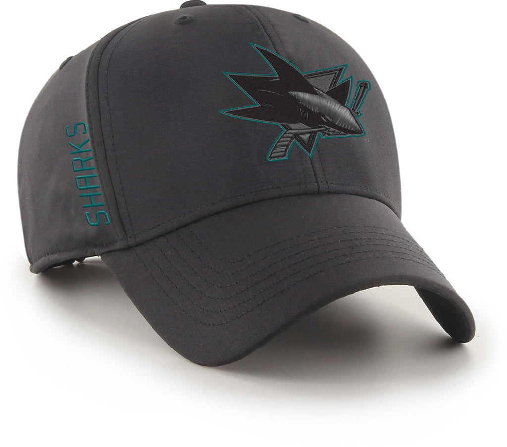 San Jose Sharks 47 Brand NHL Team Momentum Black MVP Cap - pumpheadgear, baseball caps
