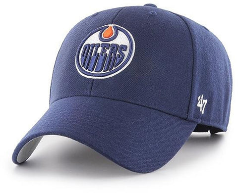 Edmonton Oilers 47 Brand MVP Adjustable Light Navy NHL Cap