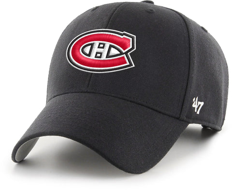 Montreal Canadiens 47 Brand MVP Adjustable NHL Black Team Cap
