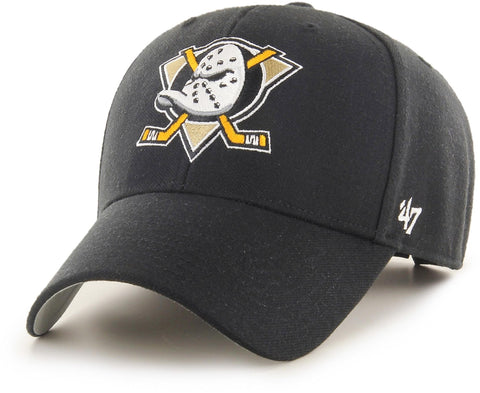 Anaheim Ducks 47 Brand MVP Adjustable Black NHL Cap - pumpheadgear, baseball caps