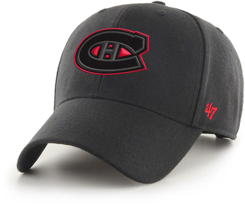 Montreal Canadiens 47 Brand MVP Adjustable Black Snapback Cap