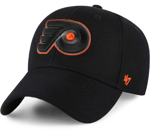 Philadelphia Flyers 47 Brand MVP Adjustable Black Snapback Cap