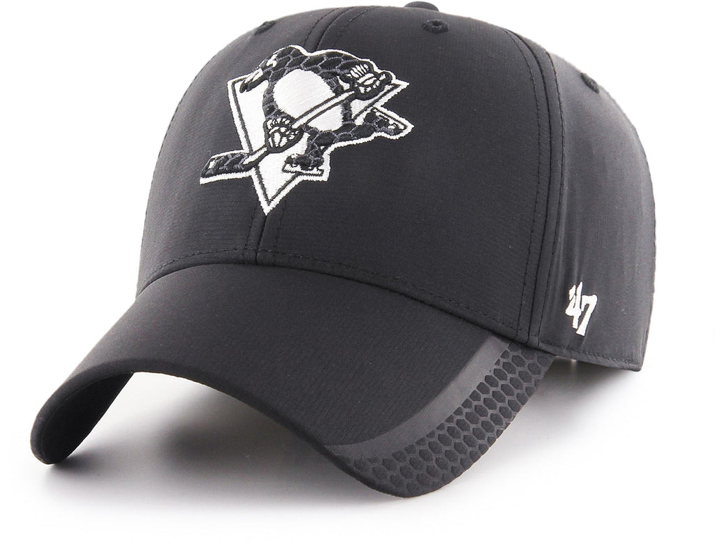 Pittsburgh Penguins 47 Brand MVP Black Osmosis NHL Team Cap