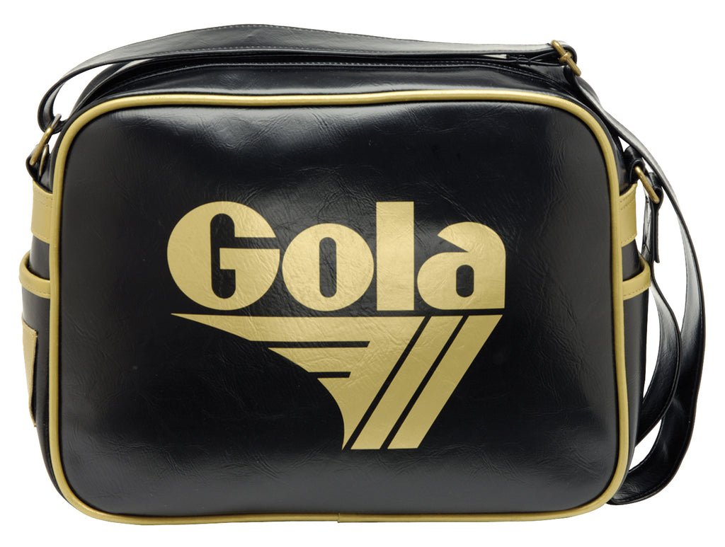 Gola Classic Redford Messenger Bag - Black/ Gold - pumpheadgear, baseball caps
