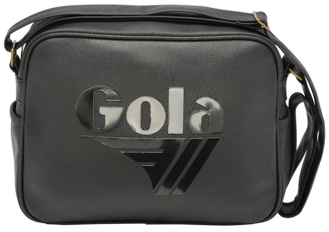 Gola Redford Tournament Messenger Bag - Black/Black - pumpheadgear, baseball caps