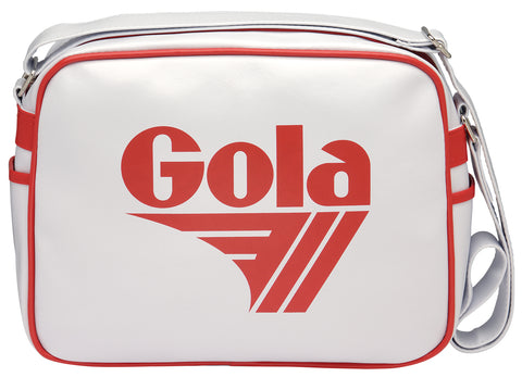Gola Classic Redford Messenger Bag - White / Red - pumpheadgear, baseball caps