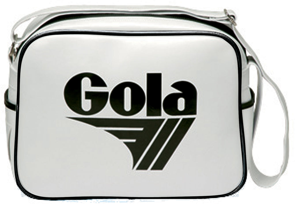 Gola Classic Redford Messenger Bag - White / Black - pumpheadgear, baseball caps