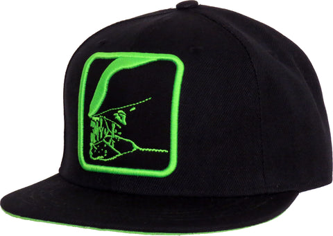 ALIEN Jaws Black Snapback Cap - pumpheadgear, baseball caps