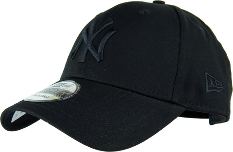 NY Yankees New Era 940 League Essential Kids Baseball Cap - Black/Black - pumpheadgear, baseball caps