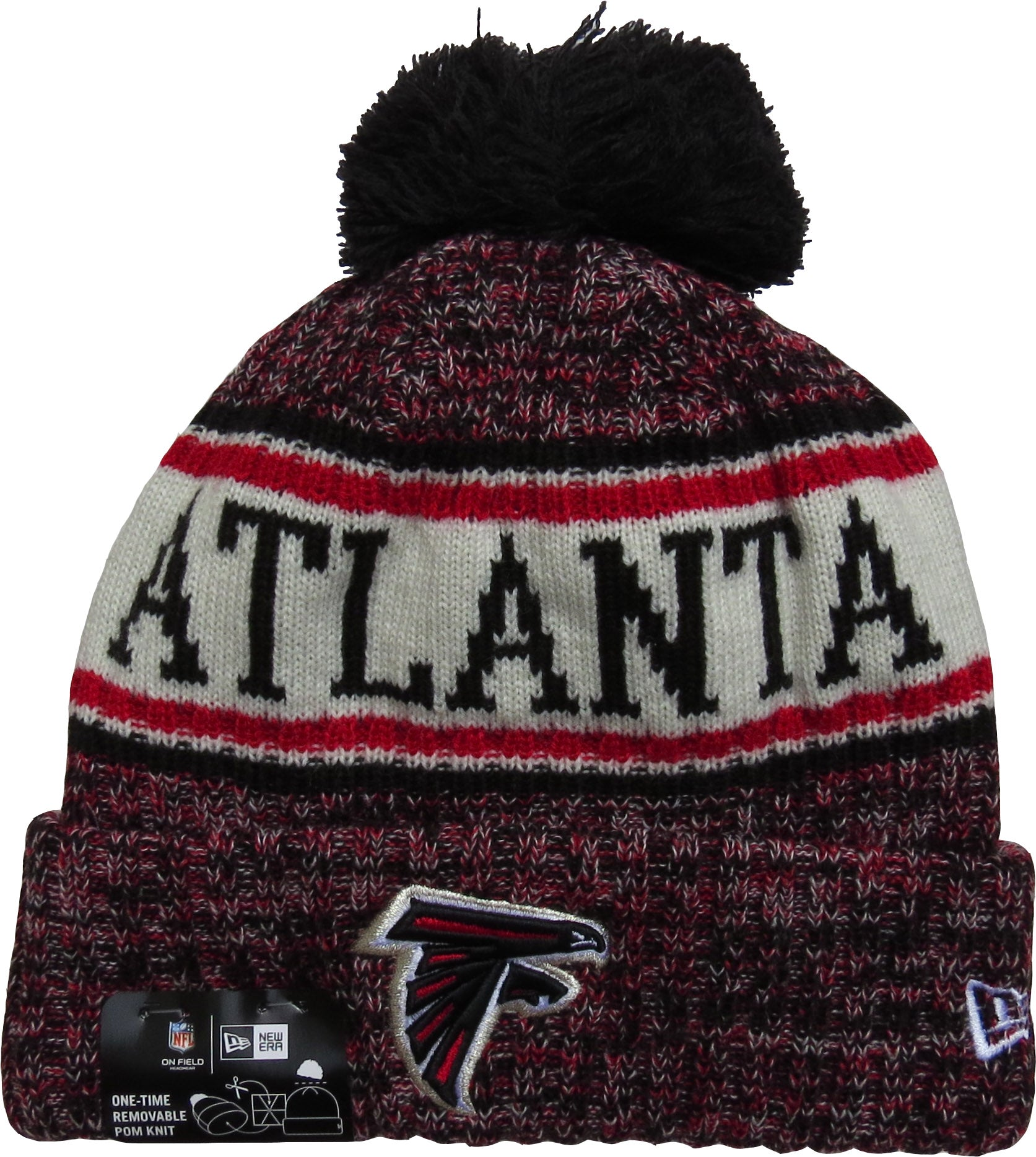 Atlanta Falcons New Era NFL On Field 2018 Sport Knit Bobble Hat -  pumpheadgear 27114c4dbcc9