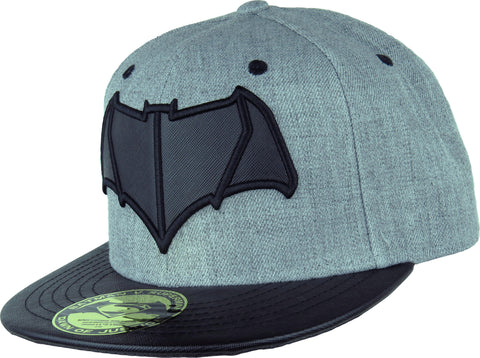 Dawn Of Justice Batman Logo Grey/Black Snapback Cap - pumpheadgear, baseball caps