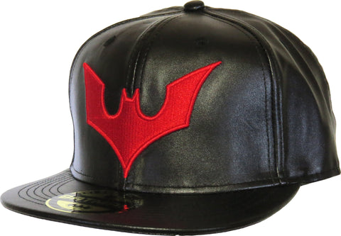 DC Comics Batman Beyond Faux Leather Black Snapback Cap - pumpheadgear, baseball caps