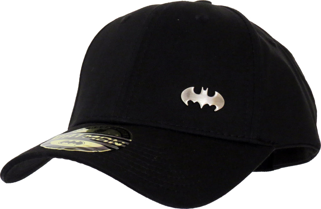 DC Comics Batman Mini Logo Black Adjustable Cap - pumpheadgear, baseball caps