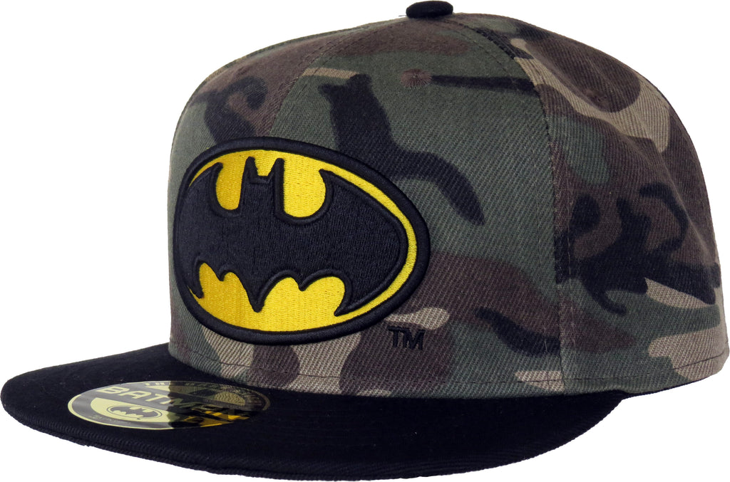DC Comics Batman Military Camo Snapback Cap - pumpheadgear, baseball caps