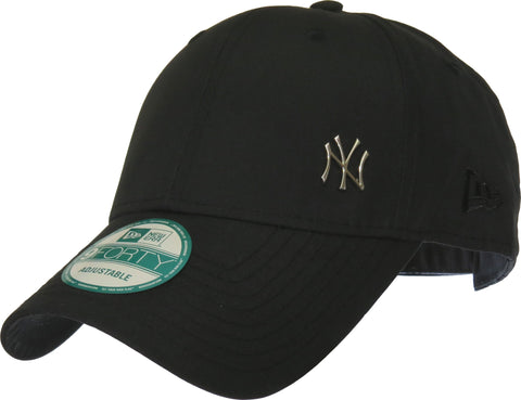 New Era 940 Flawless NY Black Baseball Cap - pumpheadgear, baseball caps