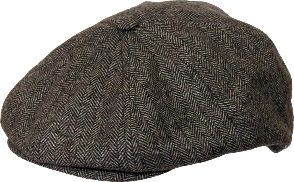 New Era Herringbone Newsboy Brown Flat Cap