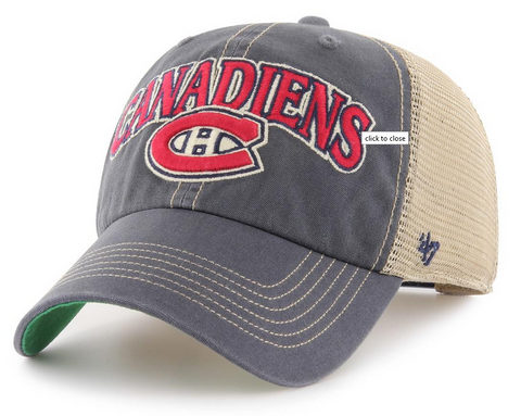 Montreal Canadiens 47 Brand Vintage Navy Tuscaloosa Clean Up Cap