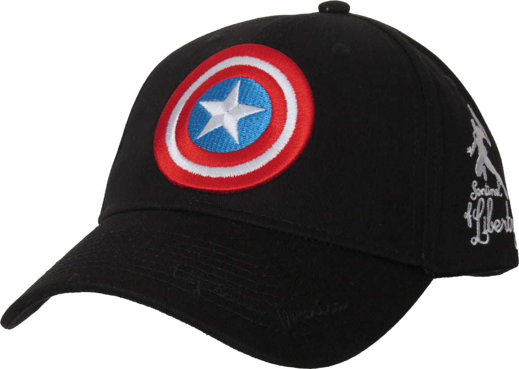 Marvel Comics Captain America Sentinal Of Liberty Black Cap - pumpheadgear, baseball caps