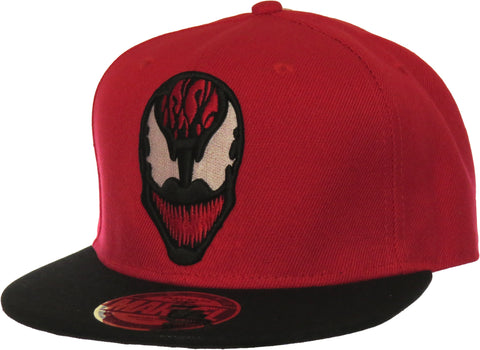 Marvel Comics Carnage Snapback Cap - pumpheadgear, baseball caps