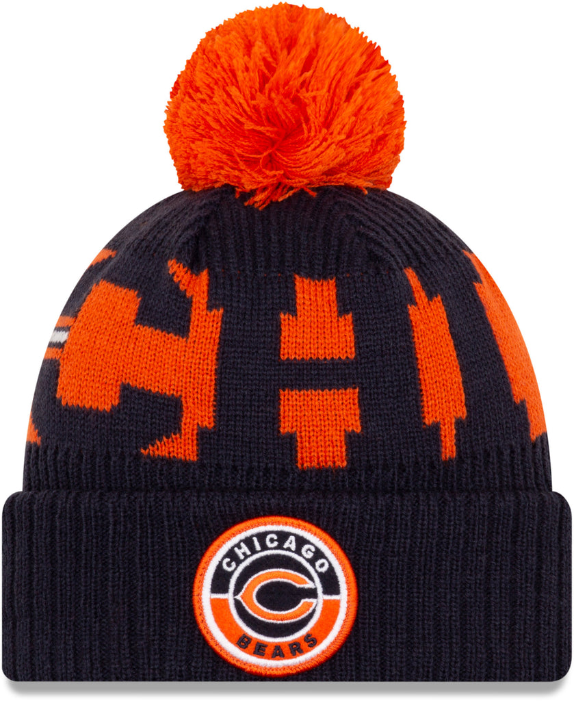 Chicago Bears New Era NFL On Field 2020 Sport Knit Bobble Hat