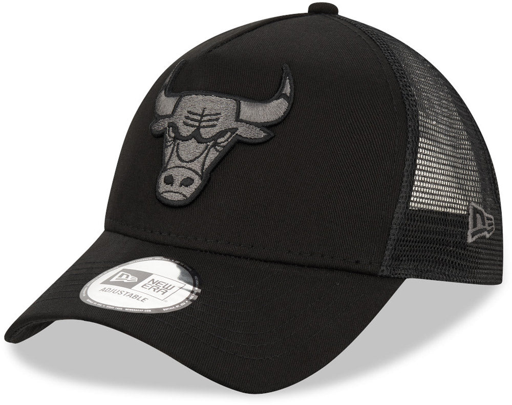 Chicago Bulls New Era NBA Team Black A-Frame Trucker Cap - pumpheadgear, baseball caps