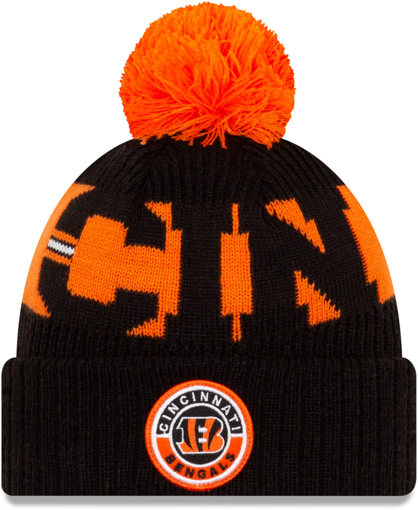 Cinncinati Bengals New Era NFL On Field 2020 Sport Knit Bobble Hat