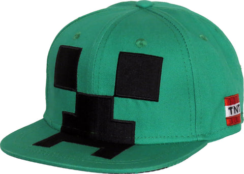 Minecraft Creeper Kids Snapback Cap (Age 5 - 10years)