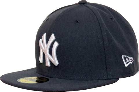 NY Yankees New Era 5950 MLB Dark Grey Baseball Cap + Gift Box - lovemycap
