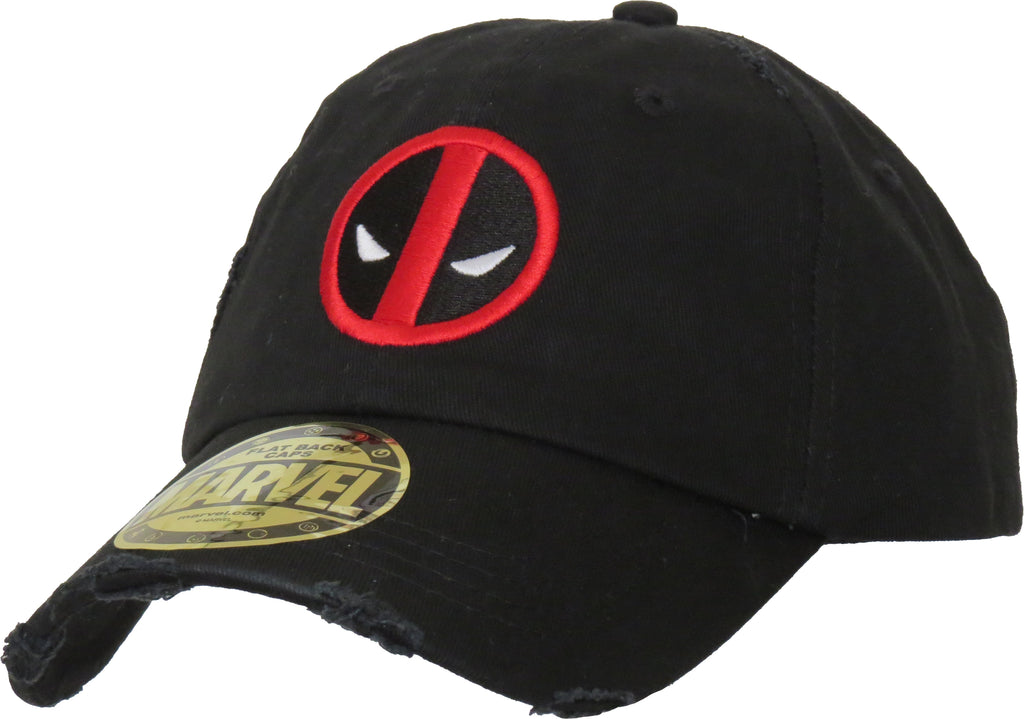 Marvel Comics Deadpool Destroyed Black Cap - pumpheadgear, baseball caps