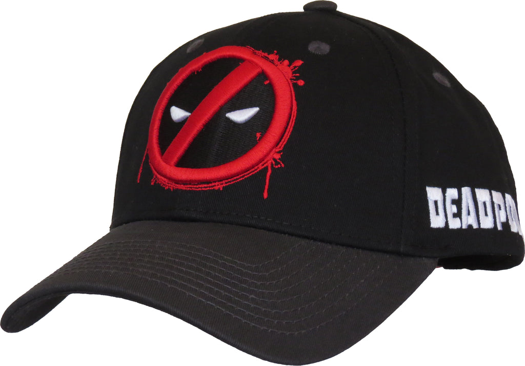 Marvel Comics Deadpool Splash Logo Adjustable Cap - pumpheadgear, baseball caps