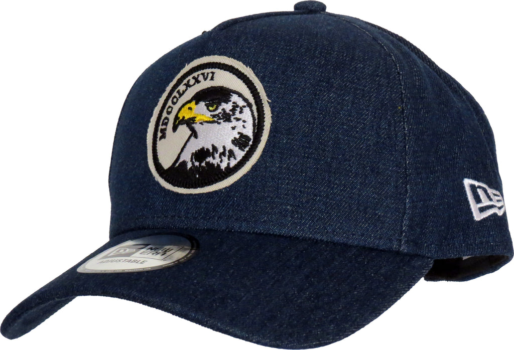 New Era Denim A-Frame Eagle Trucker Cap