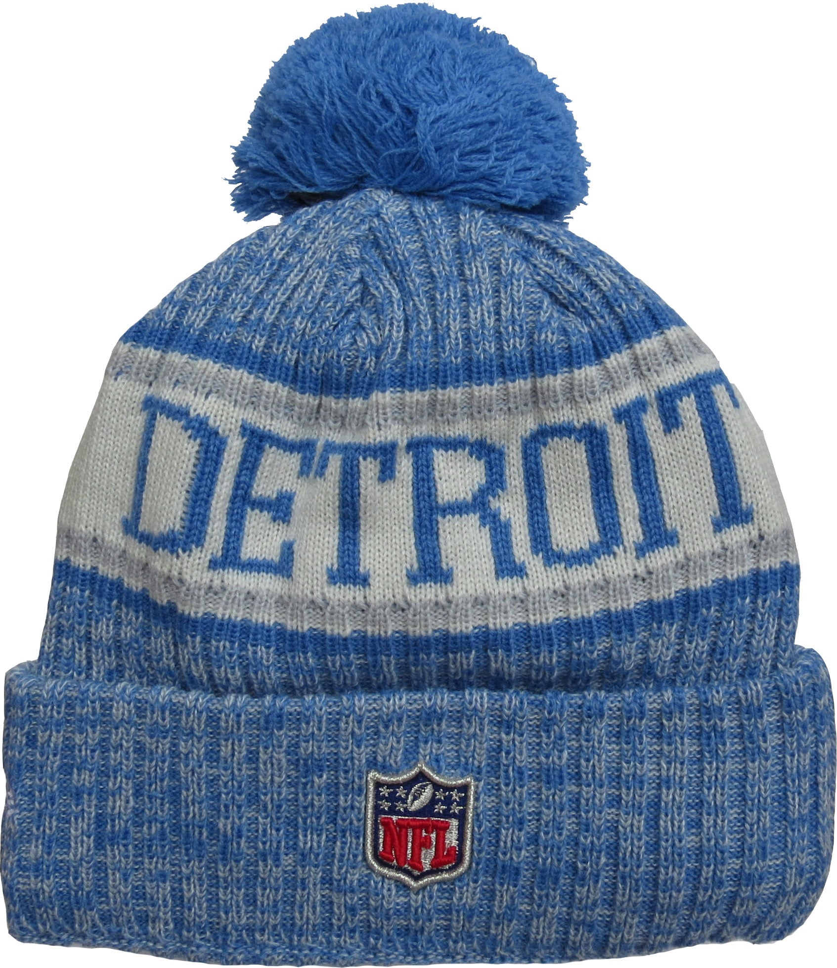 ... Detroit Lions New Era NFL On Field 2018 Sport Knit Bobble Hat -  pumpheadgear 8e37c5163