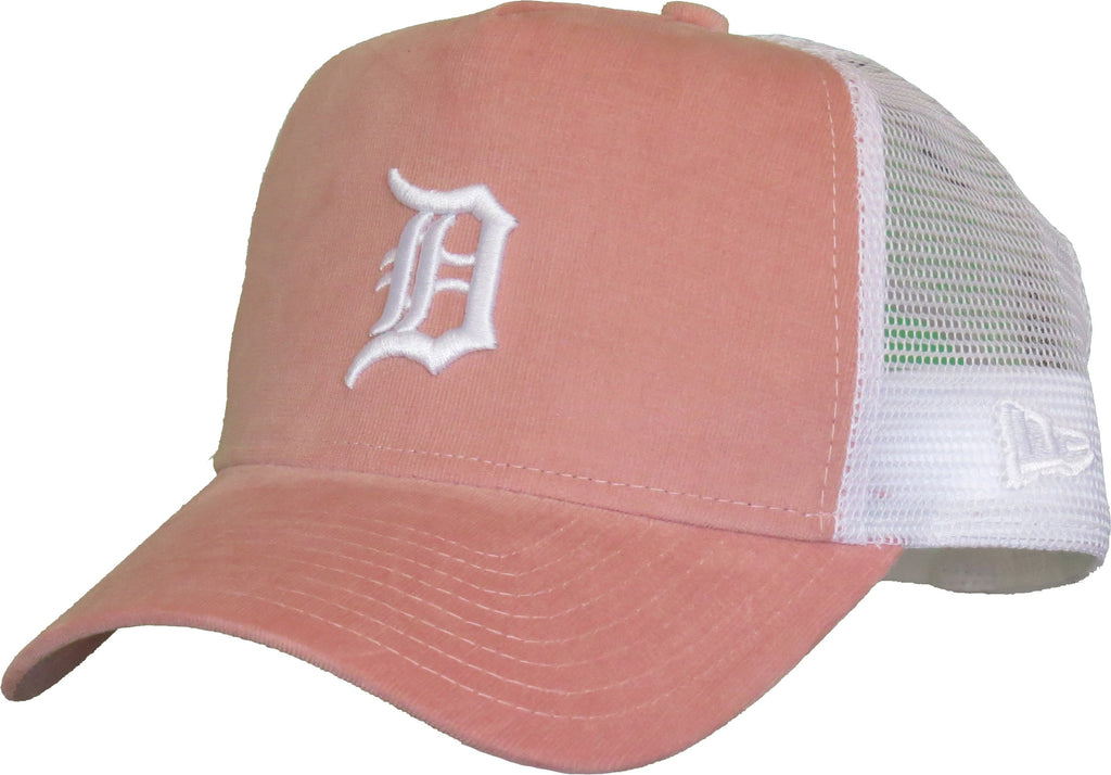 Detroit Tigers Womens New Era Micro Cord A-Frame Trucker Cap - pumpheadgear, baseball caps