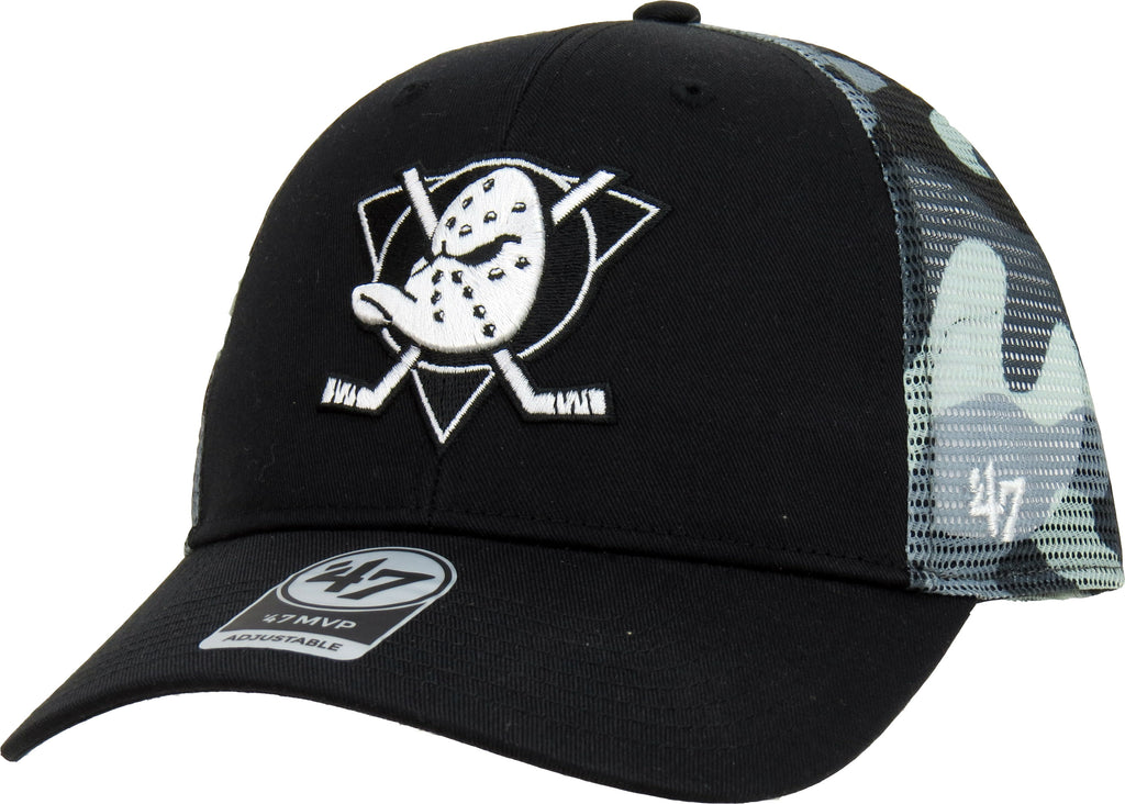 Anaheim Ducks 47 Brand Black Back Switch Trucker Cap
