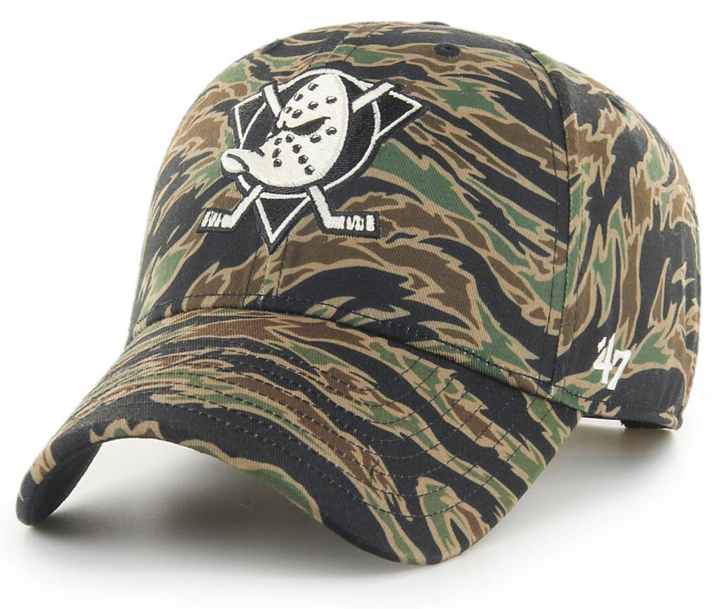 Anaheim Ducks 47 Brand MVP Drop Zone Tiger Camo Cap