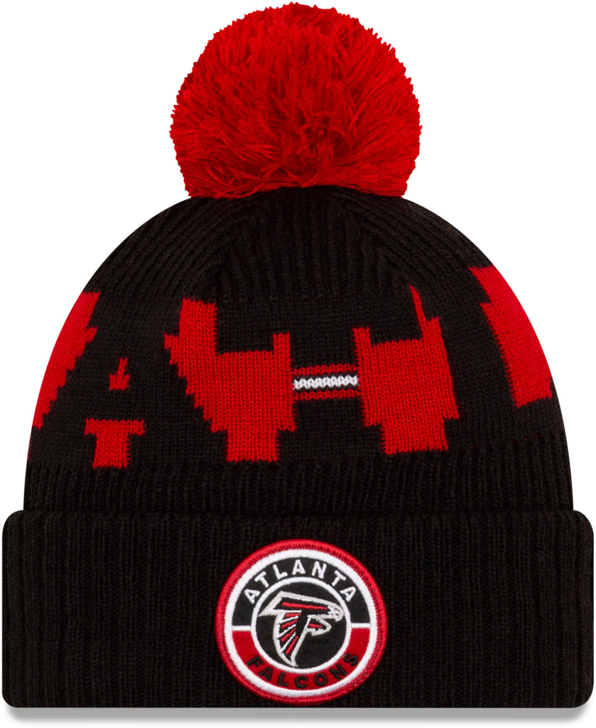 Atlanta Falcons New Era NFL On Field 2020 Sport Knit Bobble Hat