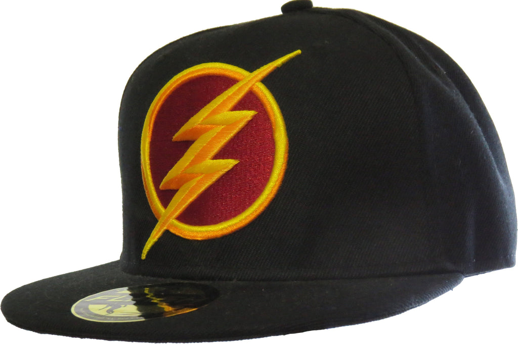 DC Comics The Flash 3D Logo Black Snapback Cap - pumpheadgear, baseball caps