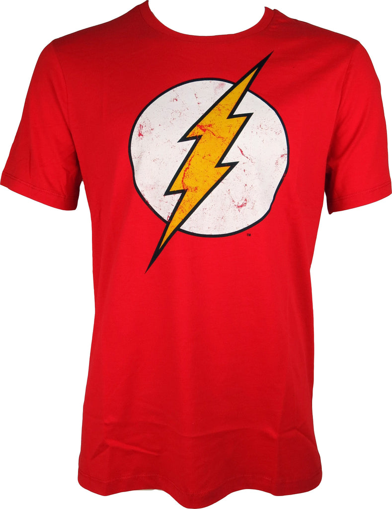 The Flash Classic Distressed Logo Red TShirt - pumpheadgear, baseball caps