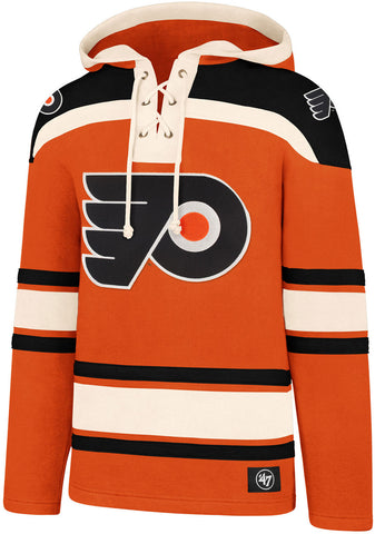 Philadelphia Flyers 47 Brand NHL Team Lacer Hooded Top