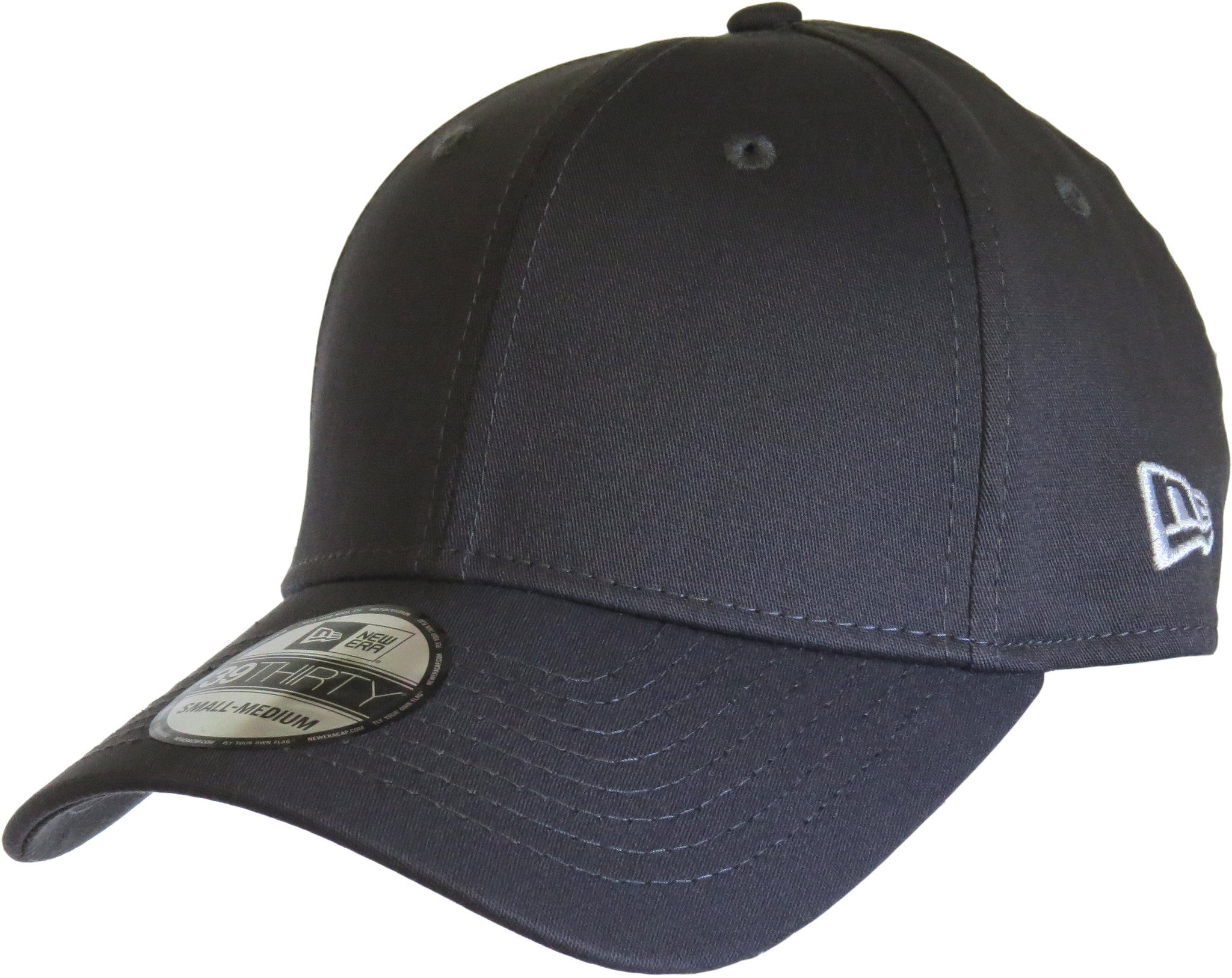 427c9355d New Era 3930 Classic Curved Peak Stretch Fit Plain Graphite Baseball Cap