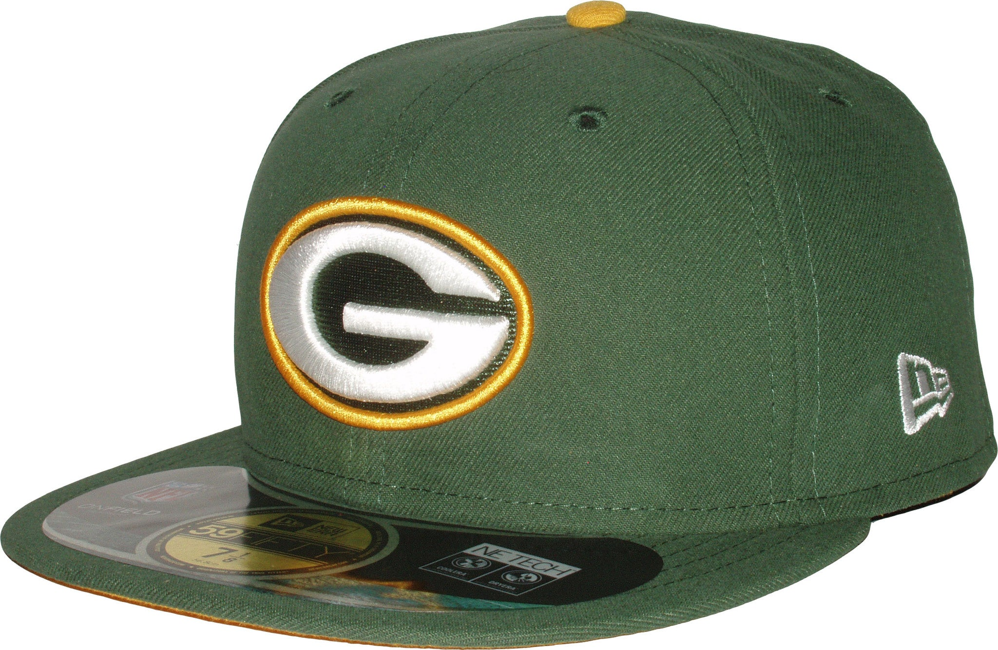 6a58fb1e38e New Era 59Fifty NFL On Field Green Bay Packers 5950 Game Cap + Gift Box ...
