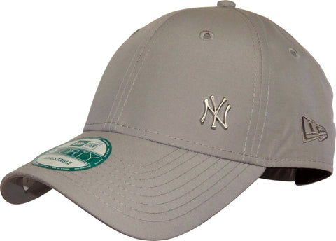 New Era 940 Flawless NY Logo Grey Baseball Cap - pumpheadgear, baseball caps