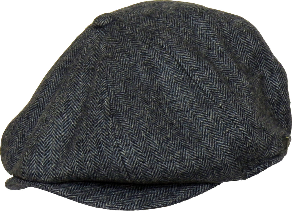 New Era Herringbone Newsboy Grey Flat Cap
