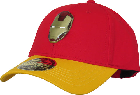 Marvel Avengers Iron Man Metal Logo Baseball Cap - pumpheadgear, baseball caps