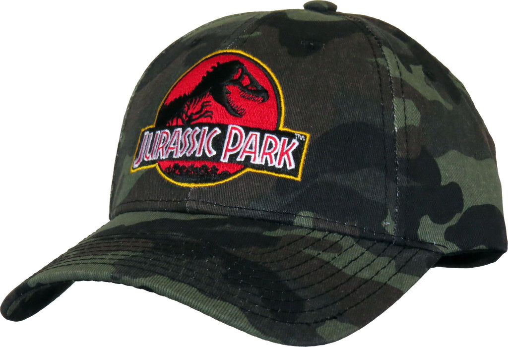 Jurassic Park Adjustable Camo Cap - pumpheadgear, baseball caps