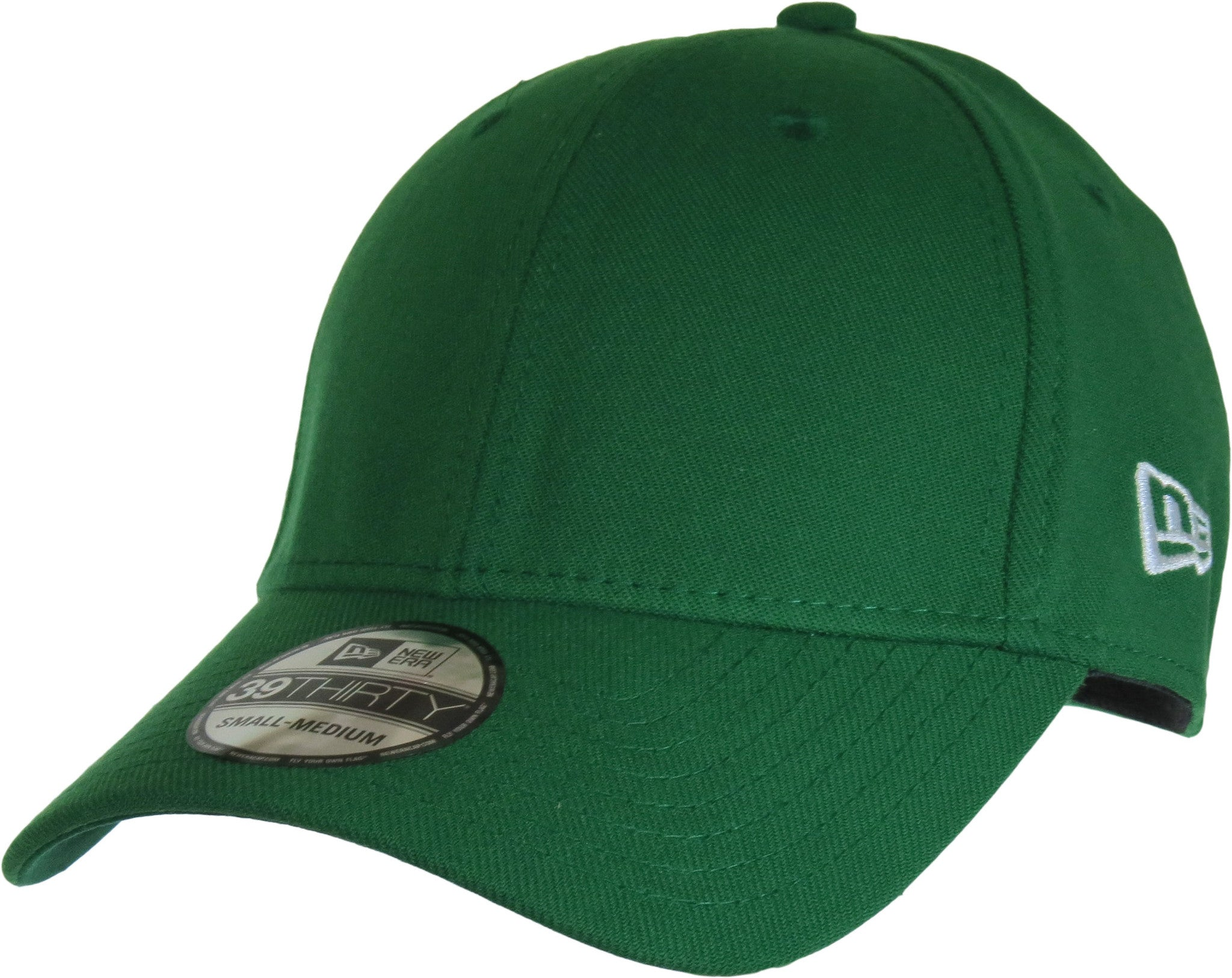 2818e0d238a New Era 3930 Classic Curved Peak Stretch Fit Plain Kelly Green Baseball Cap  - pumpheadgear