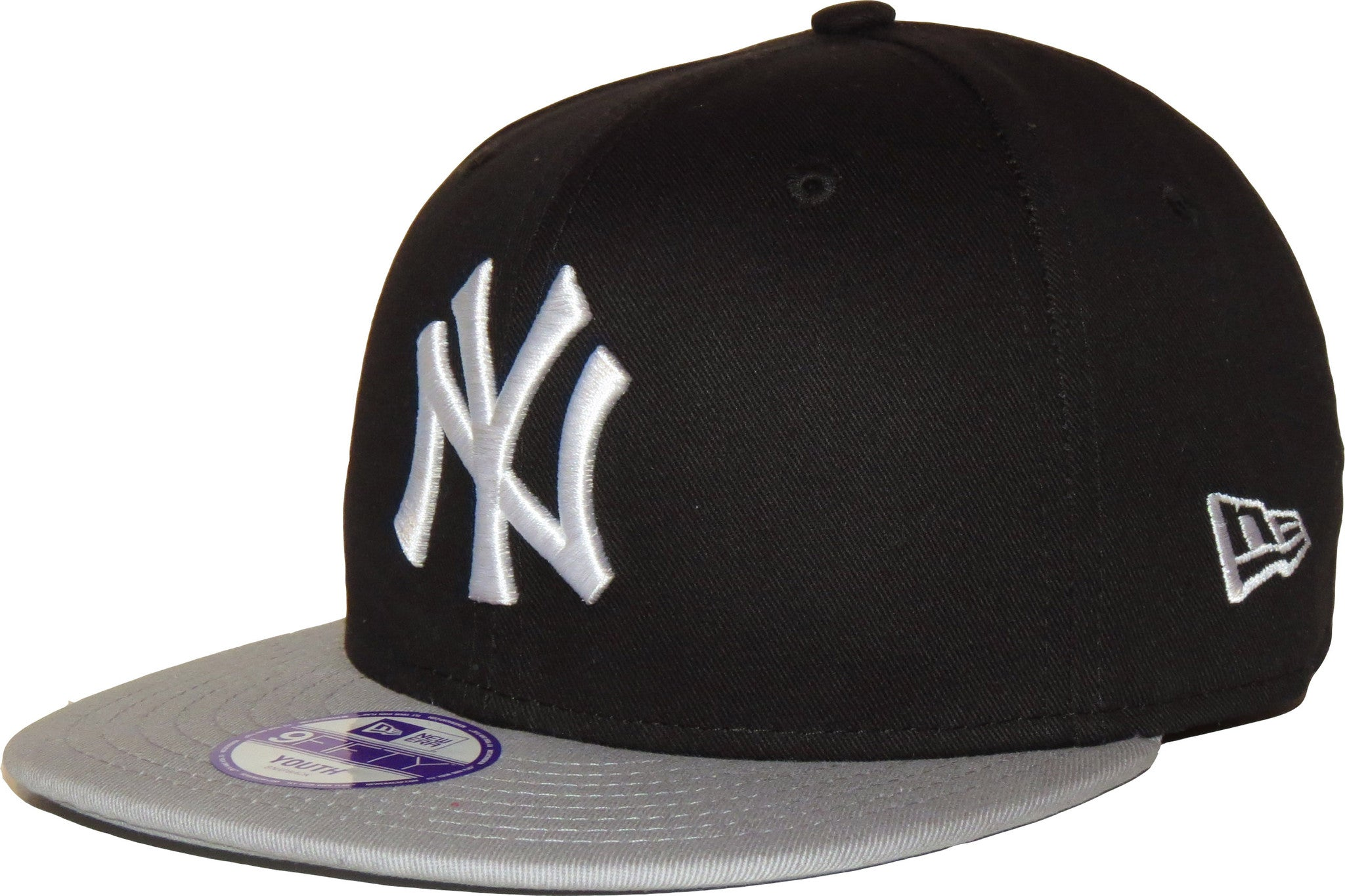 New Era 950 Kids Cotton Block NY Black Grey Snapback Cap (Ages 5 ... c2e6e445b4a5